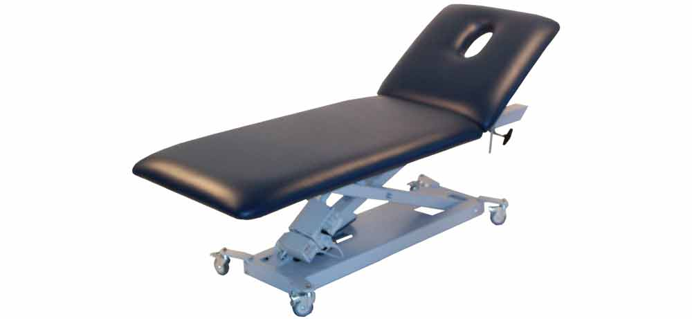 Firm-n-Fold electric Massage Table with lift back for massage, medical, physio and beauty treatments