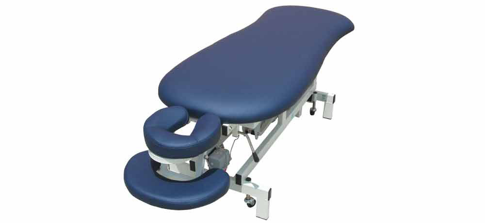 Firm-n-Fold Budget Elite electric body contour massage table for remedial massage therapy
