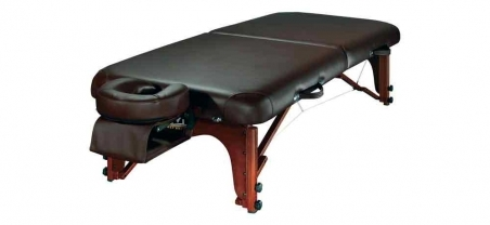 Healers Choice Portable Thai Massage Table is a wide and low timber massage table for thai massage