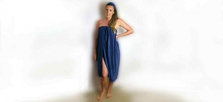 terry spa wrap gown
